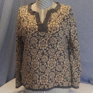 Lands' End Floral Print Sweater